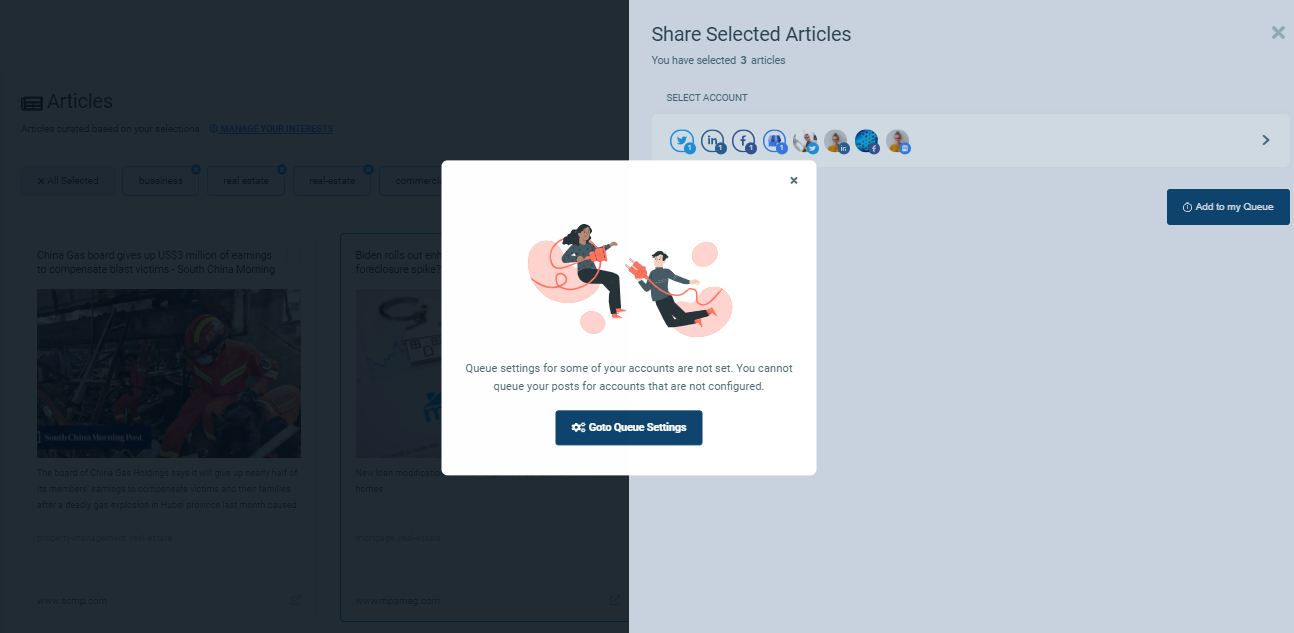 Take your article curator and get started with article curation!