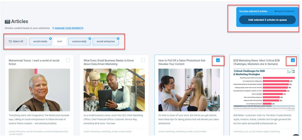 Here, you curated content for social media!