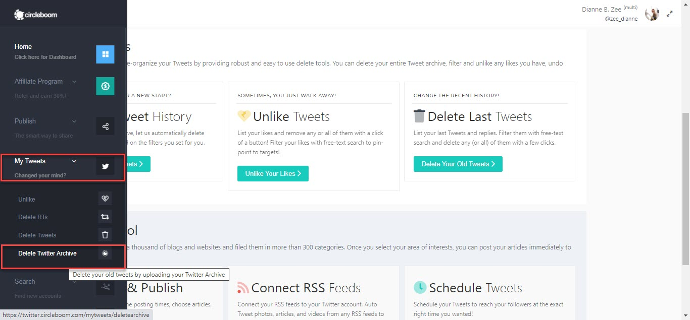 Clean your Twitter history and delete tweets by year!