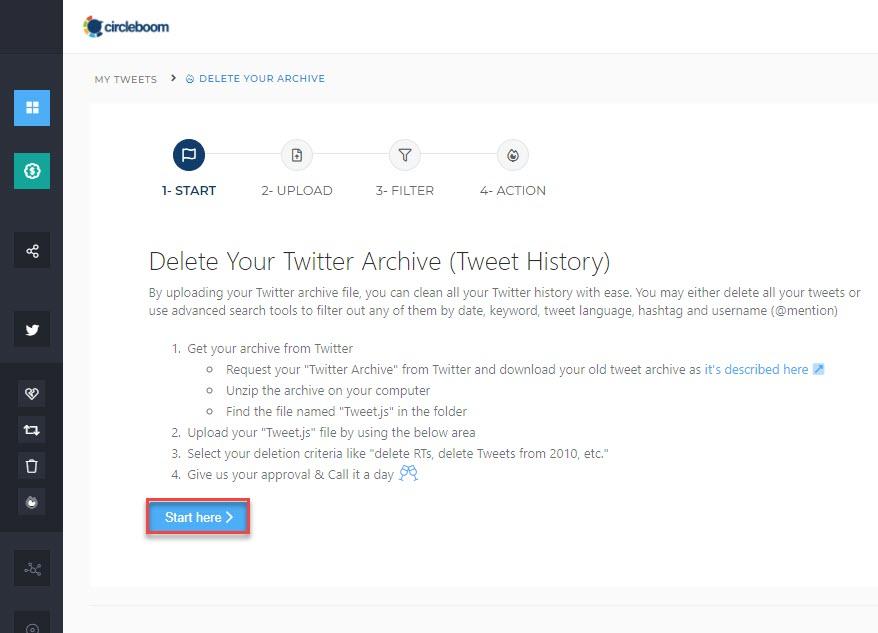 delete tweets by date