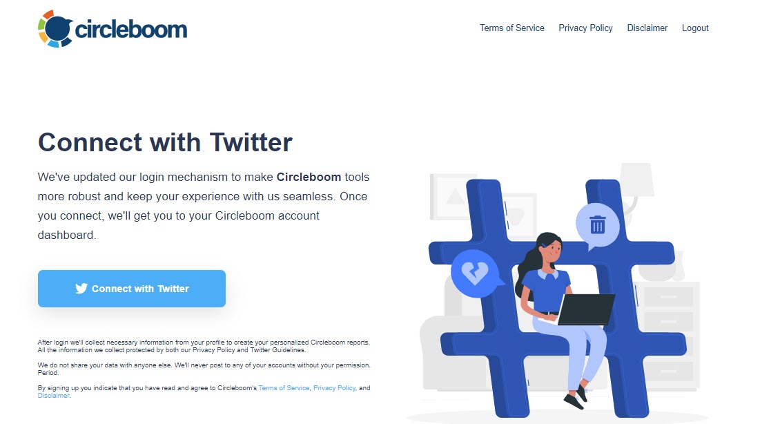 tweet delete by keyword is an easy-peasy process with Circleboom Twitter!