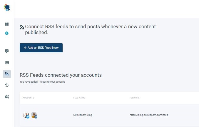 post rss to social media by Circleboom Publish