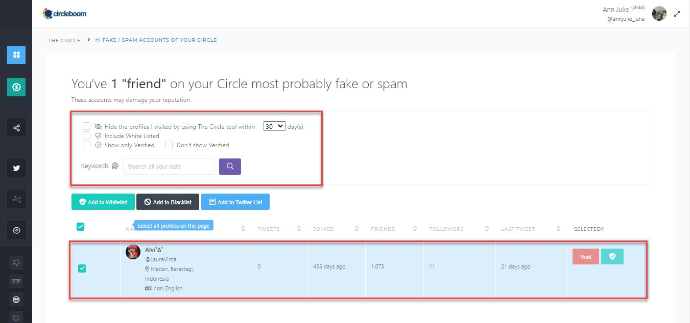 You can use the Twitter bot checker by Circleboom anytime you need!